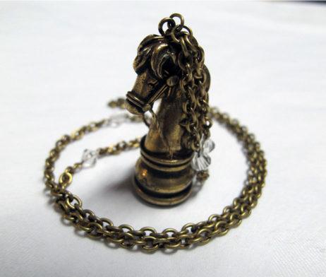 Angelic Pretty Chess Chocolate Knight Chess Piece Necklace
