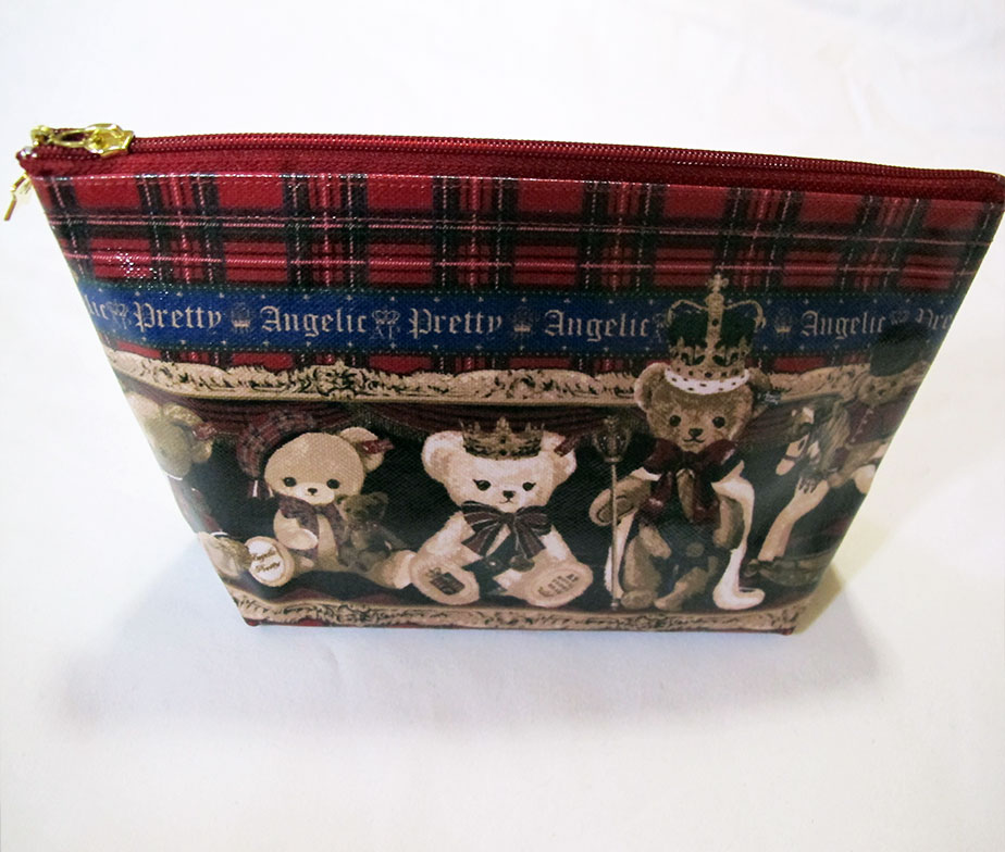 Angelic Pretty British Bear Zip Pouch