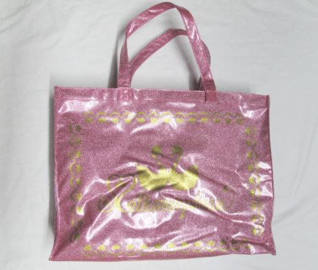 Metamorphose Swan Logo Glitter Bag