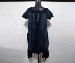 Gramm Black Striped Tunic Dress