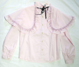 Swankiss Rose Cape Blouse