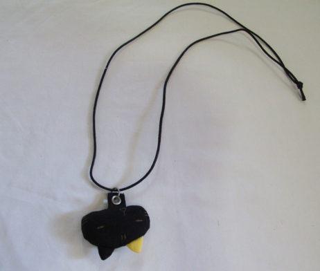Mint Neko Plushie Black Cat Necklace