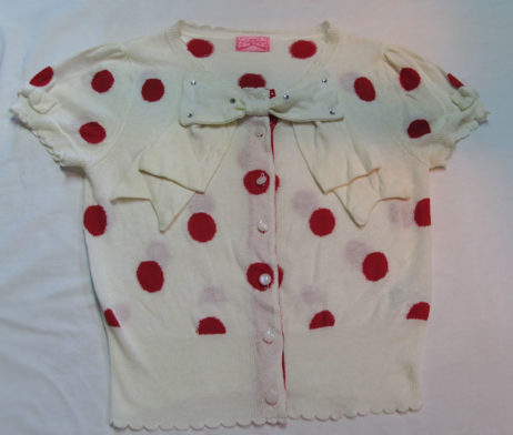Angelic Pretty Dot Ribbon Short Sleeve Cardigan