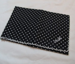 Milk Black Dotted Handkerchief
