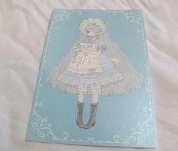 Imai Kira Girl in Blue Postcard