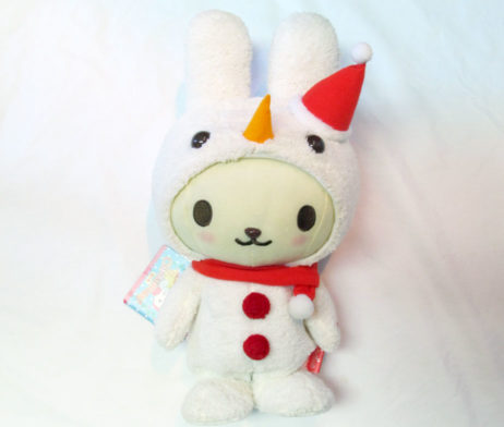 UFO Catcher Prize: Snowman Bunny Walking and Singing Plush