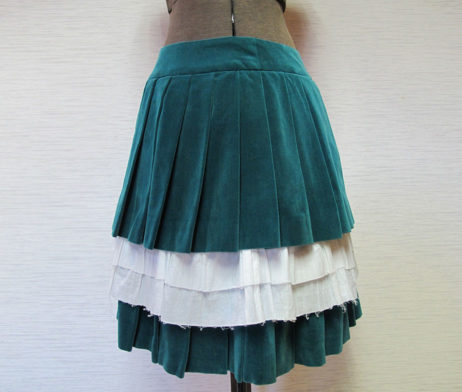 Jane Marple Velvet Pleated Skirt
