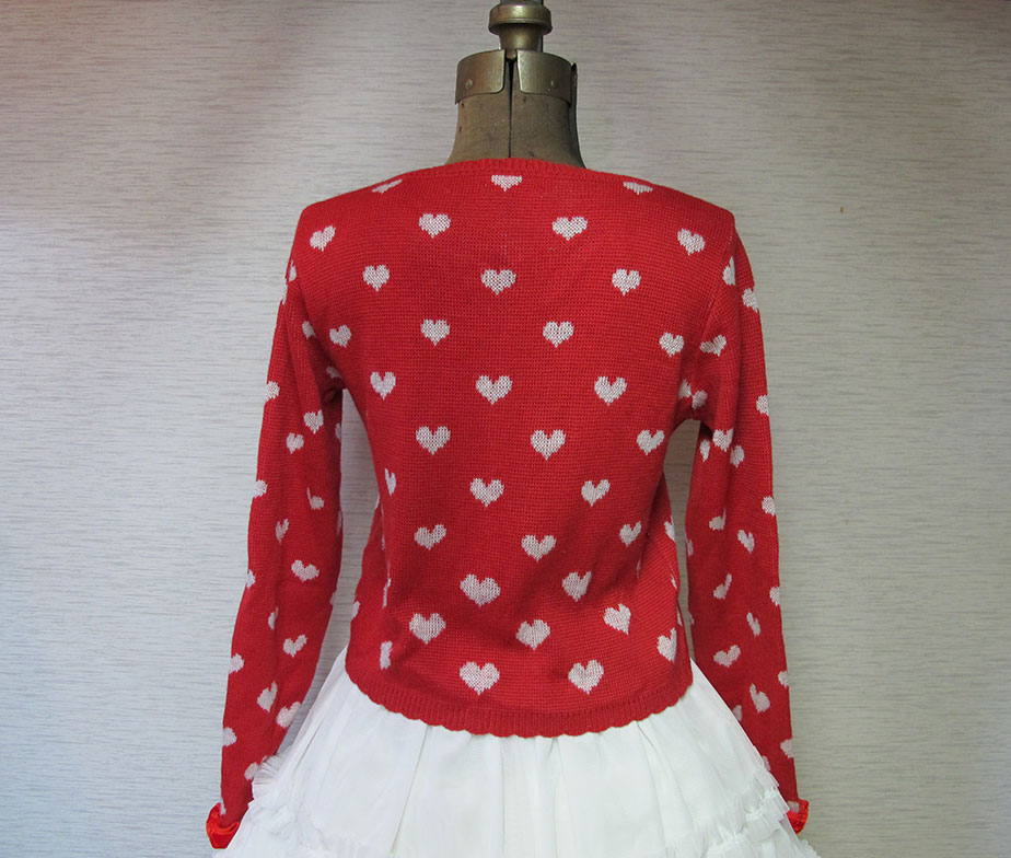 Angelic Pretty Heart Knit Cardigan