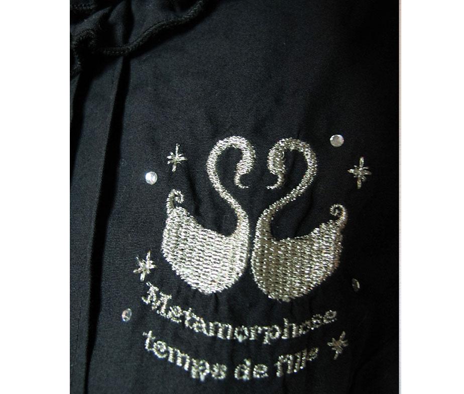 Metamorphose Swan Logo Embroidery Blouse