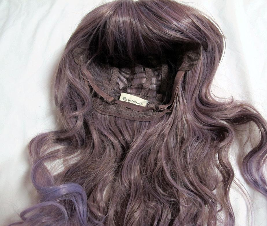 Brightlele Ash Brown to Lavender Wig