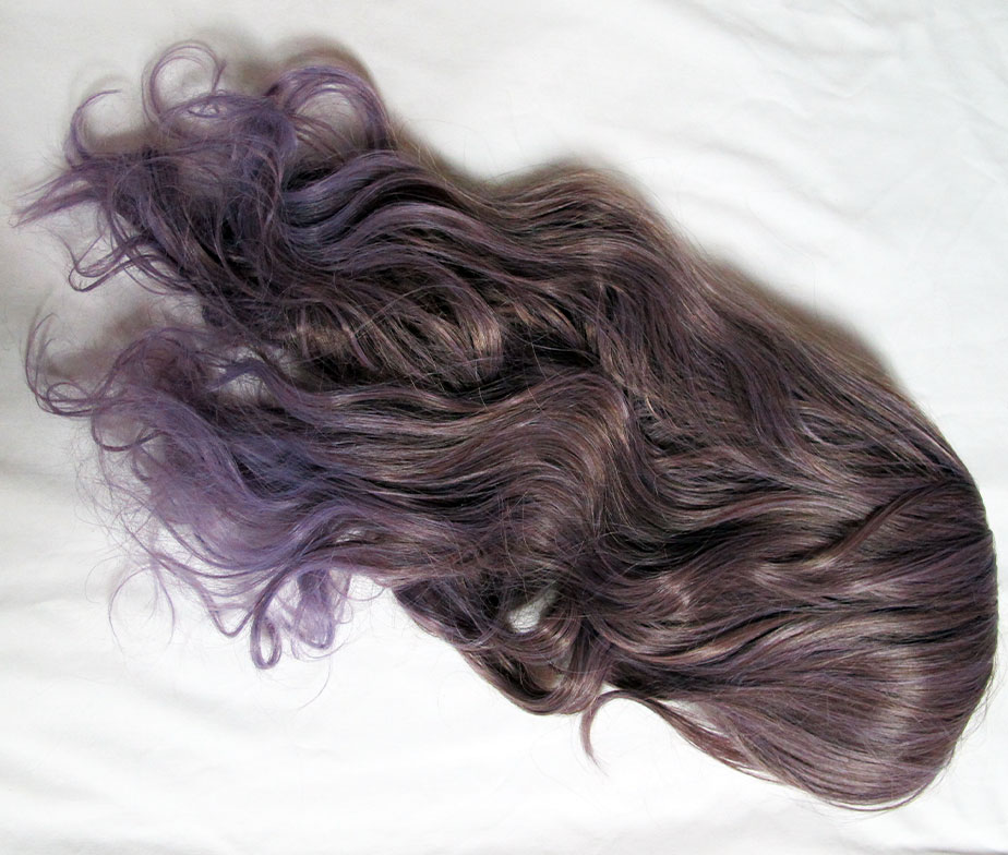 Brightlele Ash Brown to Lavender Wig