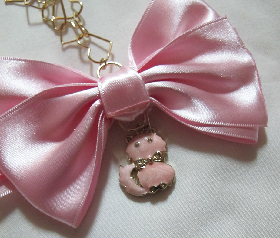 Liz Lisa Ribbon Cat Necklace