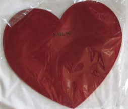 MILK Heart Pouch Red