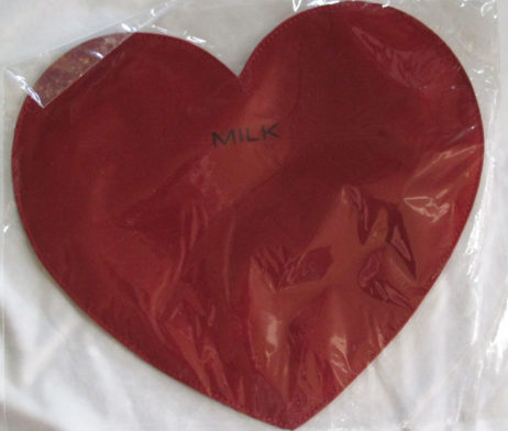 MILK Heart Pouch Red