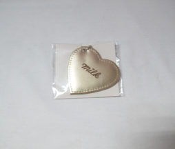 Milk Gold Heart Mirror Charm