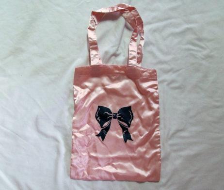Milk Ribbon Tote Pink