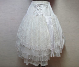 GRAMM White Lace Skirt