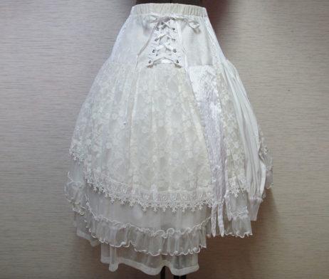 GRAMM White Lace Skirt